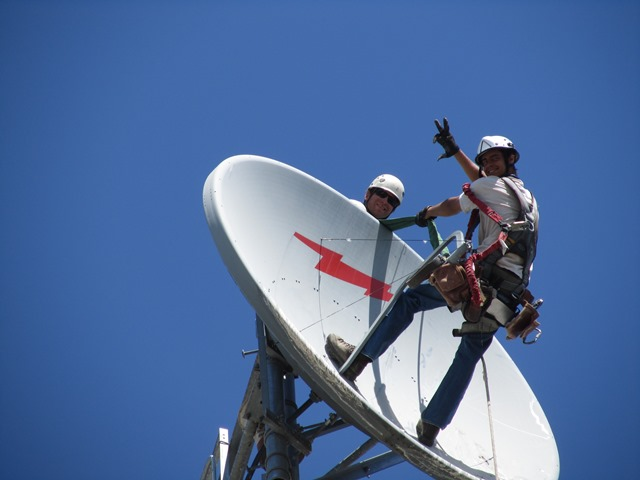 install microwave for broadcast